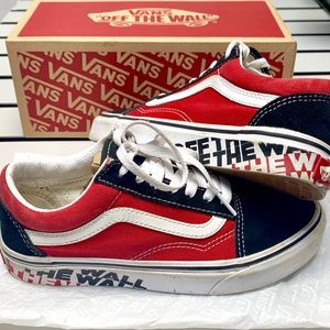 Vans Shoes Off The Wall printed sidewall Red & Blk